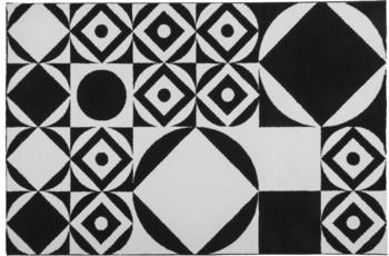 Obsession Teppich schwarz & weiss 394, schwarz-white