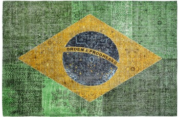 Obsession Vintage-Teppich Torino Flags 420 brazil