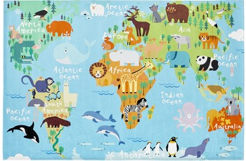 Obsession Vintage-Teppich Torino Kids 233 world map