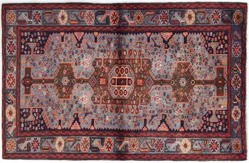 Oriental Collection Hamadan Teppich Khamseh 135 x 200 cm stark gemustert