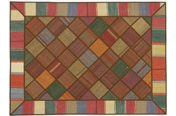 Oriental Collection Kelim Patchwork, 150 x 208 cm, handgewebt