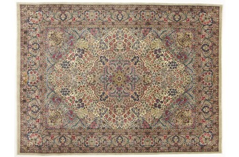 Oriental Collection Kerman Teppich, reine Wolle, handgeknüpft, 260 x 350 cm