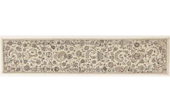 Oriental Collection Nain Teppich, Perser, handgeknüpft, reine Schurwolle 9la, 74 x 352 cm