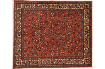 Oriental Collection Teppich, Sarough, Perser-Teppich, handgeknüpft, reine Schurwolle, florale Ornamentik, 220 x 258 cm