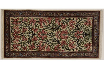 Oriental Collection Sarough Teppich, handgeknüpft, Perser, reine Wolle, 65 x 128 cm