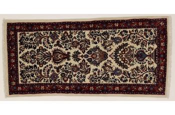 Oriental Collection Teppich, Sarough, Perser-Teppich, handgeknüpft, reine Schurwolle, florale Ornamentik, 65 x 134 cm