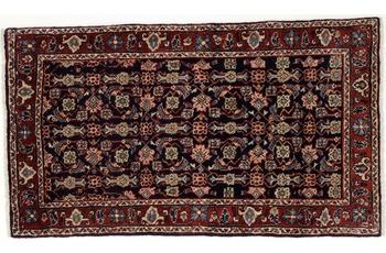Oriental Collection Teppich, Sarough, Perser-Teppich, handgeknüpft, reine Schurwolle, florale Ornamentik, 70 x 126 cm