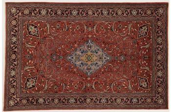 Oriental Collection Teppich, Sarough, Perser-Teppich, handgeknüpft, reine Schurwolle, florale Ornamentik, 135 x 205 cm