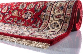 Oriental Collection Teppich Varanasi Isfahan rot 80 cm x 300 cm
