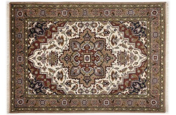 Oriental Collection Teppich Imperial Heriz, Heriz, cream /  brown 150 cm rund