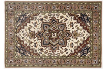 Oriental Collection Heriz Teppich Royal cream /  brown 70cm x 140cm