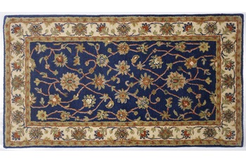 Oriental Collection Teppich Royal Ziegler, 503, blue /  cream 190 cm rund