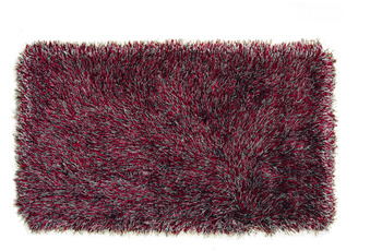 Peyer Syntex Teppich Sofia Polyshaggy grau-rot 180 cm rund