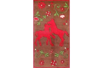 Pferdefreunde Pferde Teppich braun 150 x 220 cm