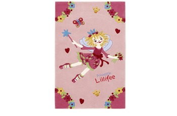 Prinzessin Lillifee Kinder-Teppich LI-2936-01 rosa/ pink,  Öko-Tex zertifiziert