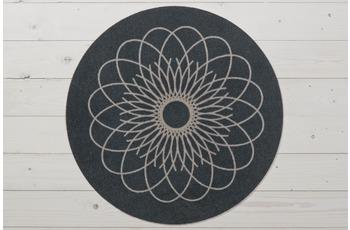 Raffi Fußmatte Raffi Ray Round, graphit
