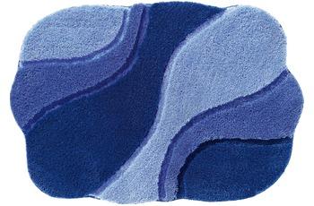 RHOMTUFT Badteppich AMBIENTE polarblau/ ultramarin/ royal 80 cm x 160 cm