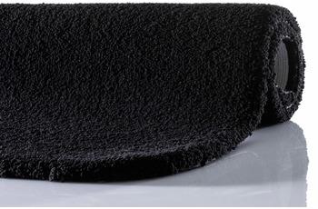 RHOMTUFT Badteppich SQUARE/ ASPECT schwarz 50 cm x 60 cm mit abgerundeten Ecken