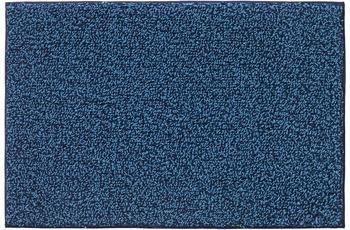 RHOMTUFT Badteppich BICOTTON kobalt/ aqua 60 x 60 cm WC-Vorleger mit Ausschnitt