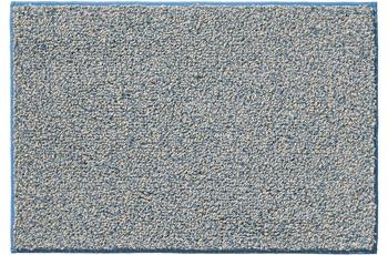 RHOMTUFT Badteppich BICOTTON saphir/ creme 50 x 65 cm
