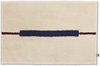RHOMTUFT Badteppich CABLE beige/ kobalt/ cardinal 70 x 150 cm