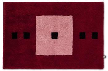 RHOMTUFT Badteppich CUBUS bordeaux/ malve/ schwarz 70 x 150 cm