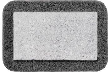 RHOMTUFT Badteppich CULT silbergrau/ zink 80 cm x 160 cm