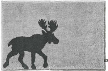 RHOMTUFT Badteppich ELK perlgrau/ zink 70 cm x 150 cm