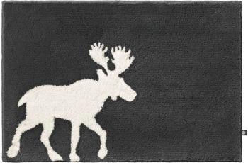 RHOMTUFT Badteppich ELK zink/ natur-jasmin 50 cm x 65 cm