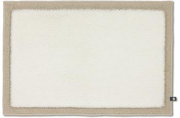 RHOMTUFT Badteppich FRAME ecru/ creme 70 x 150 cm