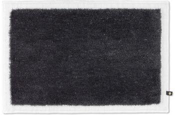 RHOMTUFT Badteppich FRAME zink/ weiß 70 x 150 cm