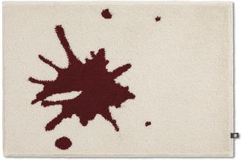 RHOMTUFT Badteppich KLEX edelweiß/ cardinal 70 x 150 cm
