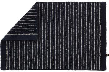 RHOMTUFT Badteppich LIN schwarz/ natur 70 cm x 130 cm