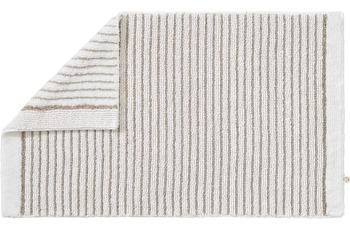 RHOMTUFT Badteppich LIN weiss/ natur 70 cm x 130 cm