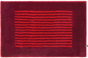 RHOMTUFT Badteppich LINEA cardinal/ carmin 70 cm x 150 cm