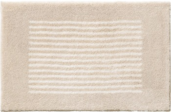 RHOMTUFT Badteppich LINEA stone/ ecru 45 cm x 50 cm Deckelbezug