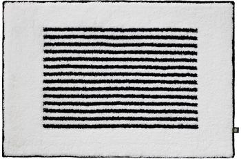 RHOMTUFT Badteppich LINEA weiss/ schwarz 70 cm x 150 cm