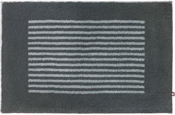 RHOMTUFT Badteppich LINEA zink/ stahl 70 cm x 150 cm