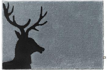 RHOMTUFT Badteppich LORD blei/ schwarz 80 cm x 160 cm