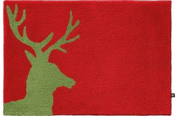 RHOMTUFT Badteppich LORD cardinal/ lind 80 cm x 160 cm