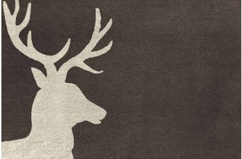 RHOMTUFT Badteppich LORD moor/ stone 80 cm x 160 cm