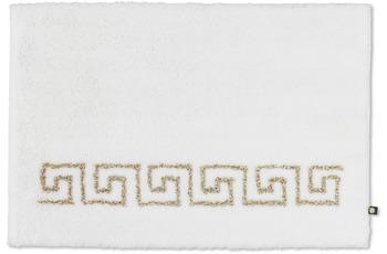 RHOMTUFT Badteppich MÄANDER MONO weiß/ weiß-goldlurex 70 x 150 cm