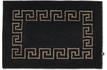 RHOMTUFT Badteppich MÄANDER schwarz/ kastanie 70 x 150 cm