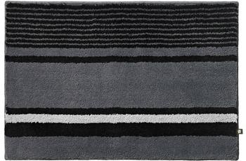 RHOMTUFT Badteppich MARITIM zink/ schwarz/ edelstahl 50 cm x 65 cm