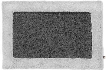RHOMTUFT Badteppich ORIGO zink/ silbergrau 80 cm x 160 cm