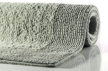 RHOMTUFT Badteppich PRESTIGE/ EXQUISIT jade 60 x 60 cm WC-Vorleger halbrund mit Ausschnitt