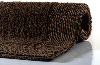 RHOMTUFT Badteppich PRESTIGE/ EXQUISIT mocca 60 x 60 cm WC-Vorleger halbrund mit Ausschnitt