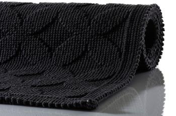 RHOMTUFT Badteppich SEASIDE schwarz 50 x 70 cm