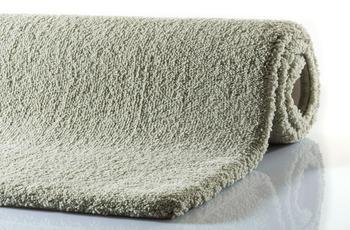 RHOMTUFT Badteppich SQUARE/ ASPECT jade 55 x 60 cm WC-Vorleger halbrund mit Ausschnitt