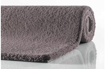 RHOMTUFT Badteppich SQUARE/ ASPECT mauve 55 cm x 60 cm WC-Vorleger (oval)